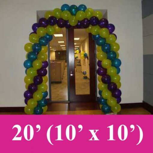 2 color balloon arches fort worth