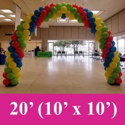 4 color balloon arches fort worth