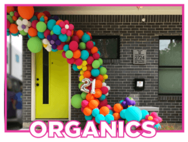 organic balloon arch fort worth and dallas areas