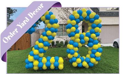 order balloon yard decorations