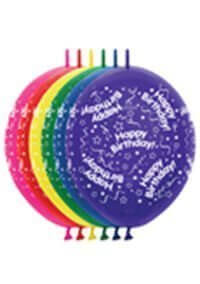 link-o-loon printed balloons available at Affairs Afloat Balloons serving Dallas and Fort Worth areas