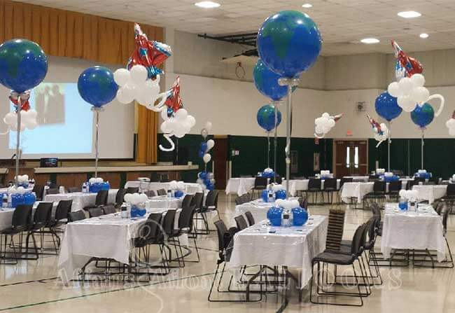 Balloon table decorations from affairs afloat balloons ft