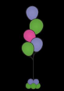 balloon floor bouquets Dallas Fort Worth metroplex