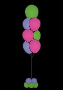 balloon floor bouquets 7 dallas fort worth metroplex