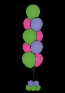 balloon floor bouquets 9, dallas fort worth metroplex