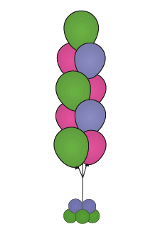 balloon floor bouquets 9