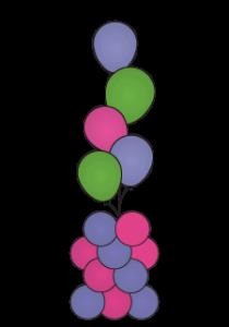 balloon party pillar dallas fort worth metroplex