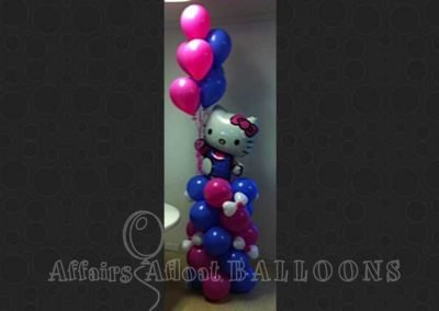 Balloon Party Pillar from Affairs Afloat Balloons, serving Dallas and Fort Worth areas