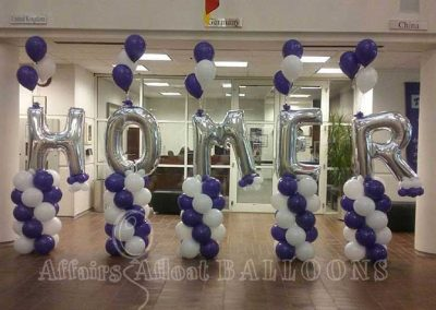 party pillar balloons dallas fort worth metroplex