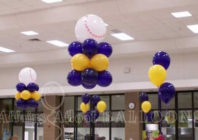 Balloon Table Decorations from Affairs Afloat Balloons, serving Dallas and Fort Worth areas