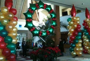 Holiday balloons Dallas Fort Worth area
