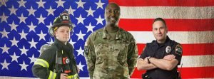 balloon discounts for military and first responders in Dallas and Fort Worth areas