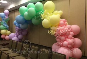 organic balloon arch fort worth and dallas