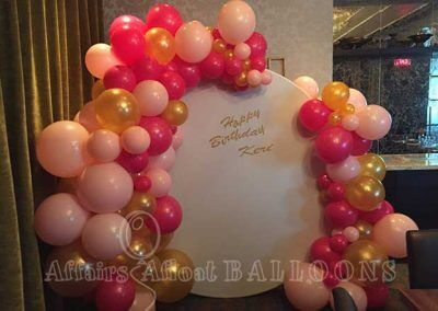 organic balloon arrangements dallas fort worth metroplex