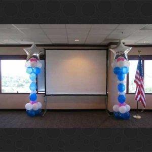 quicklink balloon columns fort worth, dallas, dfw