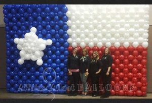 balloon backdrops, Specialty Custom Balloon Decorations from Affairs Afloat Balloons serving Dallas and Fort Worth Texas