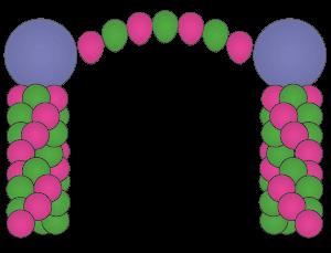 topper-arch balloon columns dallas fort worth