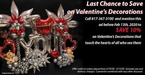 valentines decoration on sale